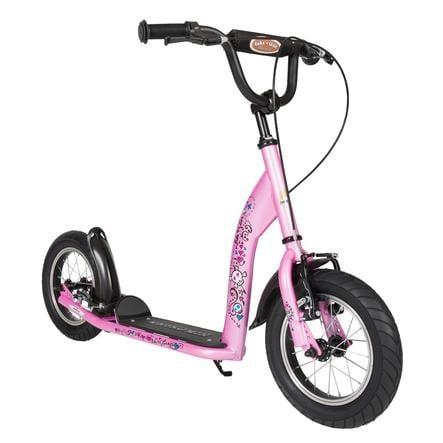 bikestar® Trottinette enfant 2 roues premium 12 pouces rose Caraïbes turquoise