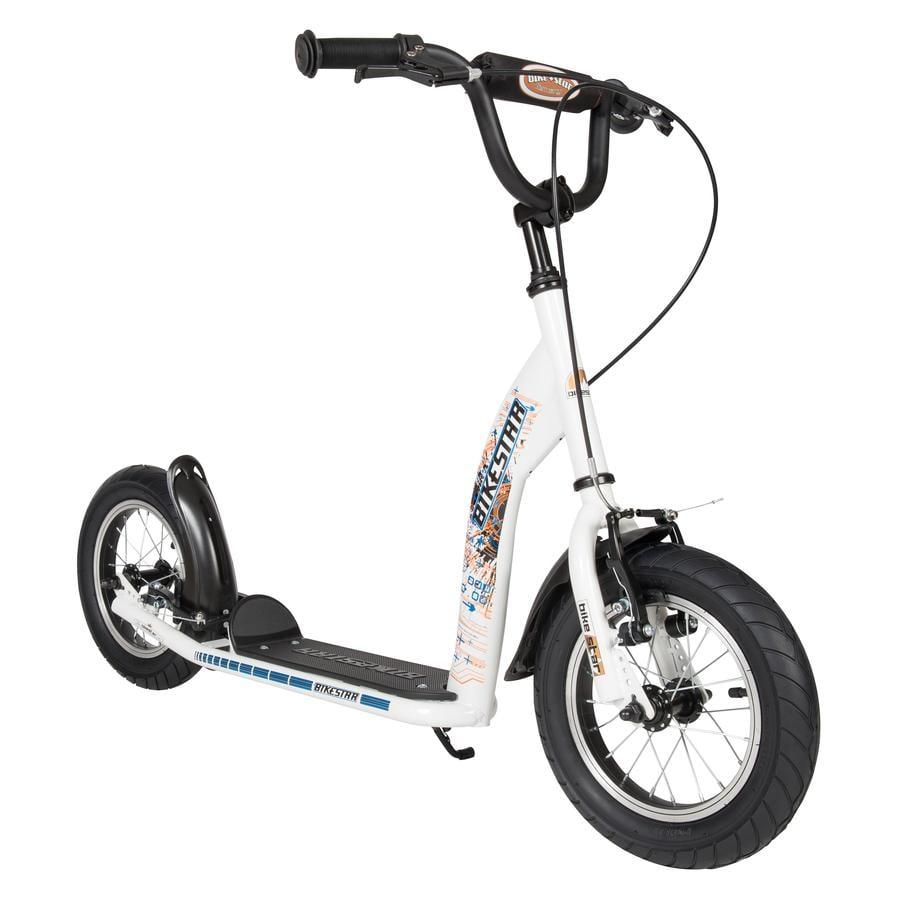 bikestar® Trottinette enfant 2 roues premium 12 pouces blanc Sport