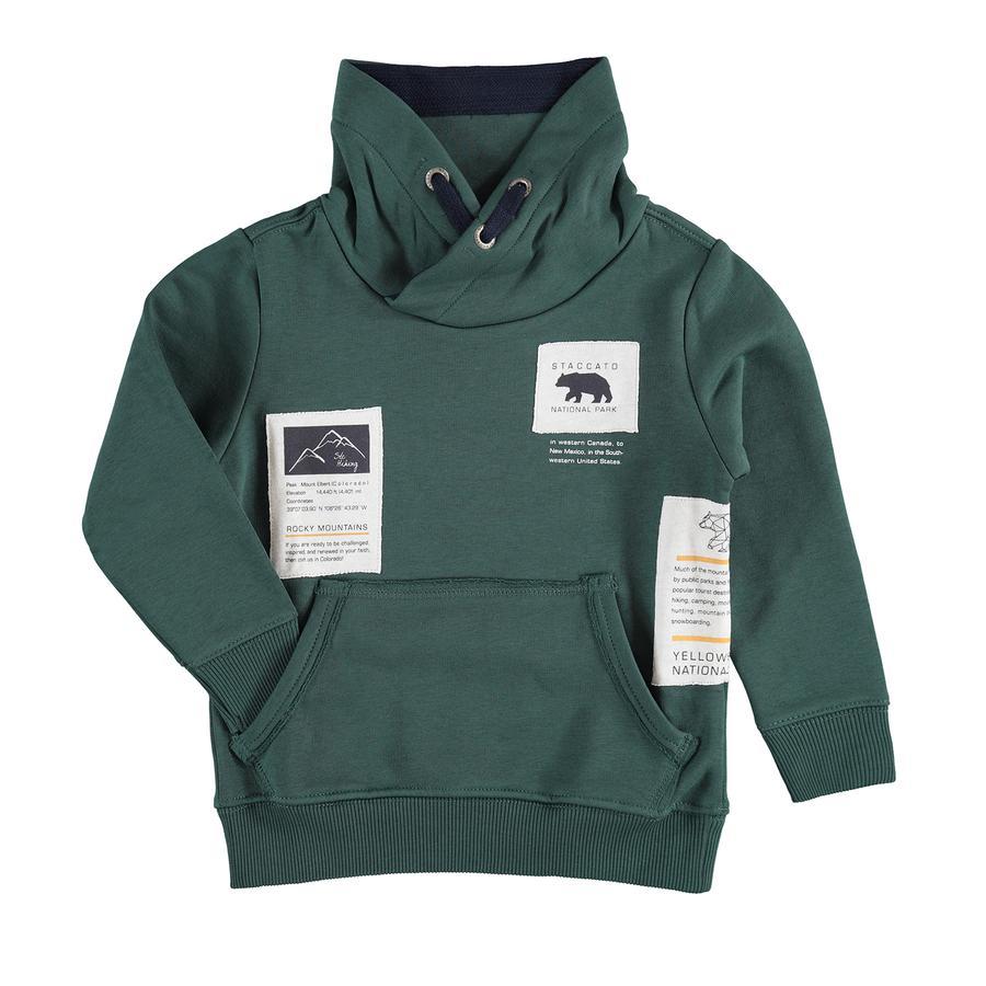 STACCATO  Chlapecká mikina tmavá green