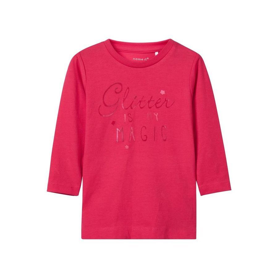 name it Girl s Koszula z długim rękawem Żeberka wirtualnie różowe