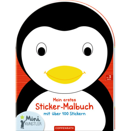 COPPENRATH Mini-K ünstler: Mi primer libro de colorear con pegatinas Penguin