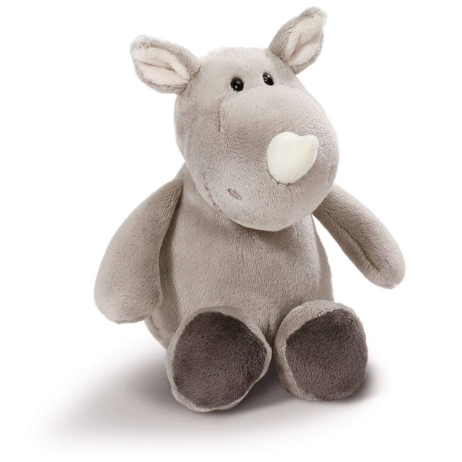 NICI Rinoceronte silvestre Friend de peluche de 20 cm, delgado 43627