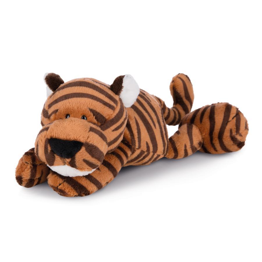 NICI Wild Cuddly Friends legetøj Tiger Balikou 30 cm liggende 43909