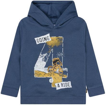 STACCATO  Chlapecká mikina s kapucí washed modrá