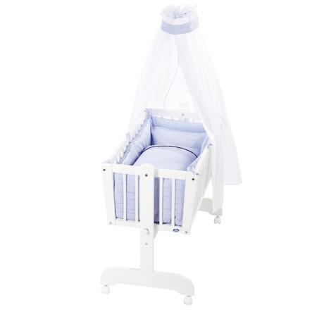 Alvi® Parure de berceau à bascule rayures bleu, 3 pièces 80x80 cm
