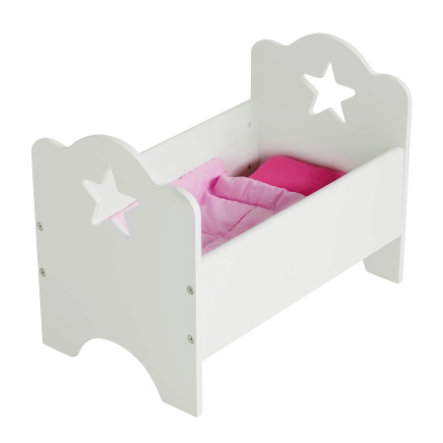 KIDS CONCEPT Doll's Bed Star, white