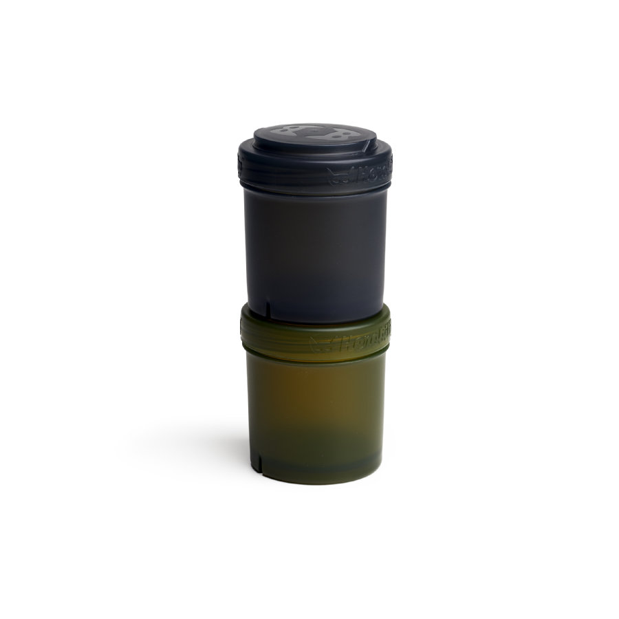 Herobility Förvaringsbehållare 2 x 100 ml svart / olivgrön