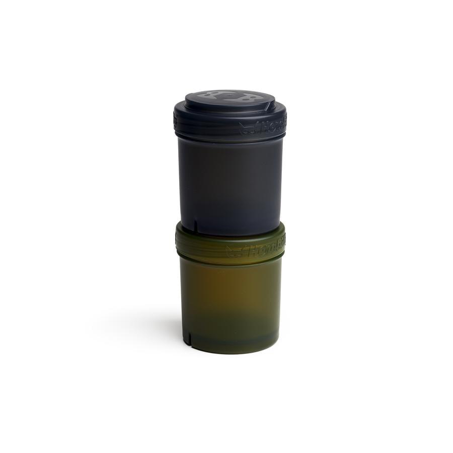 Herobility Recipiente de almacenamiento 2 x 100 ml negro/verde oliva