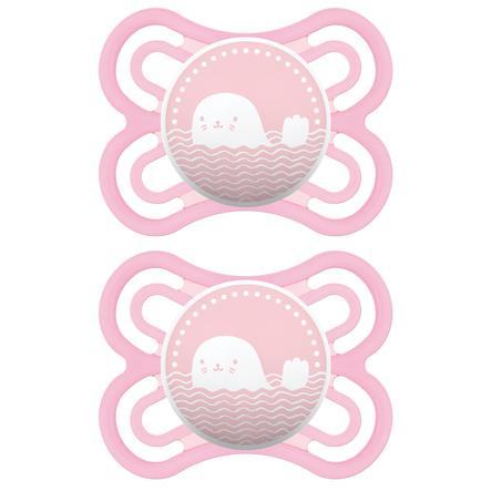 MAM Schnuller Perfect rosa 0 - 6 Monate Silikon 2 Stück