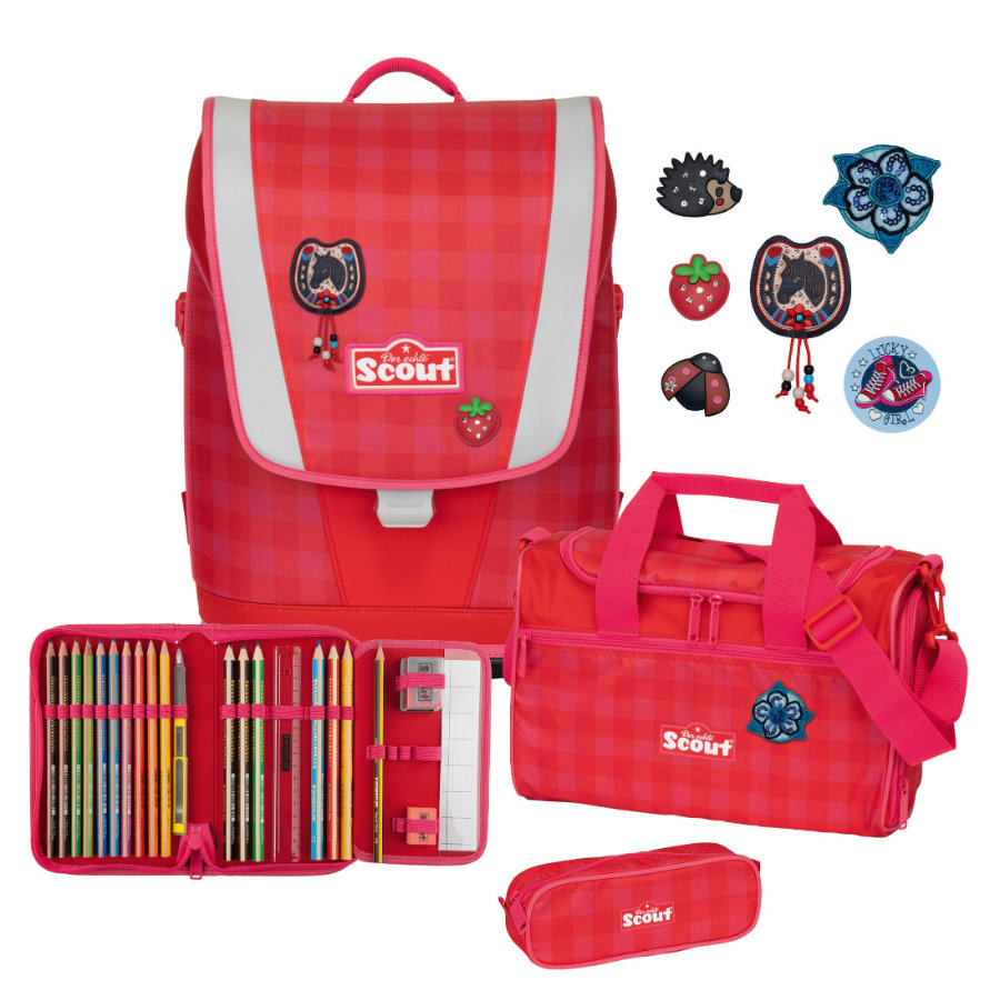 Scout Ultra-Set 4 pezzi - Rosso Gingham