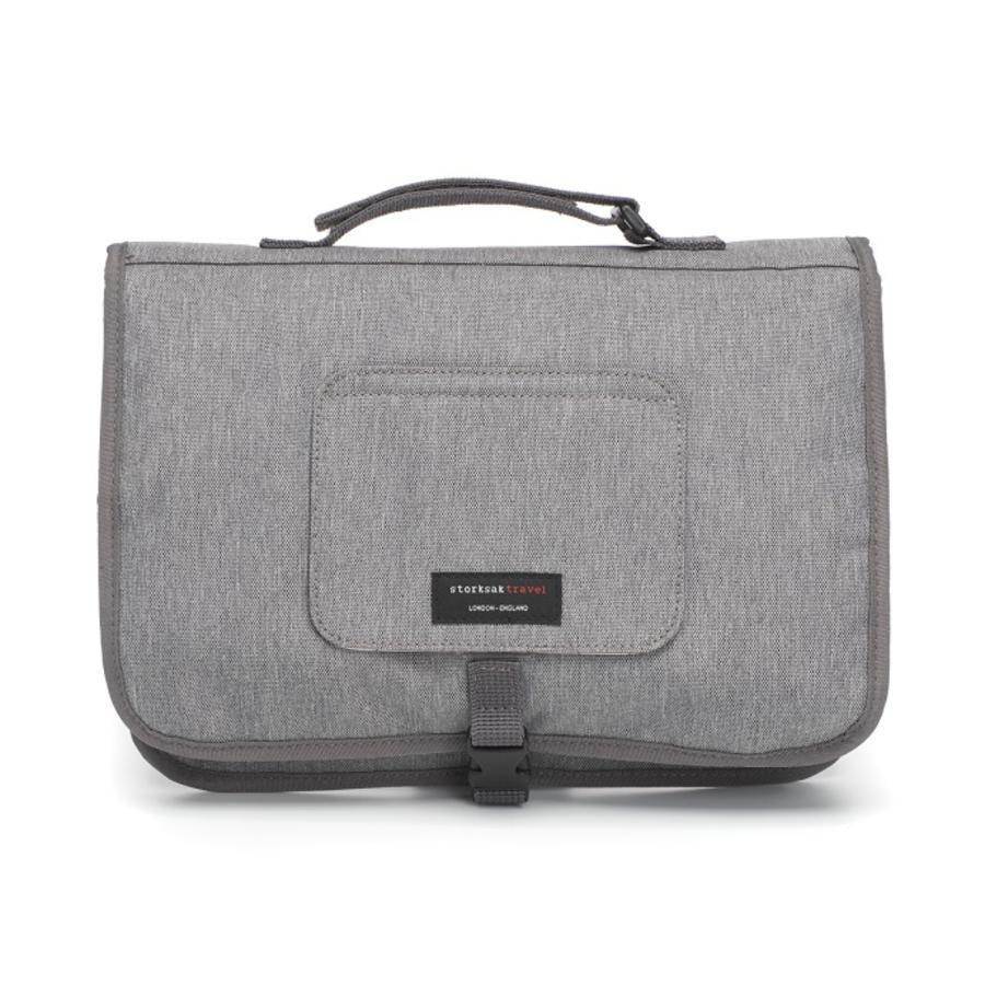 storksak Verschoonmatje Travel Grey