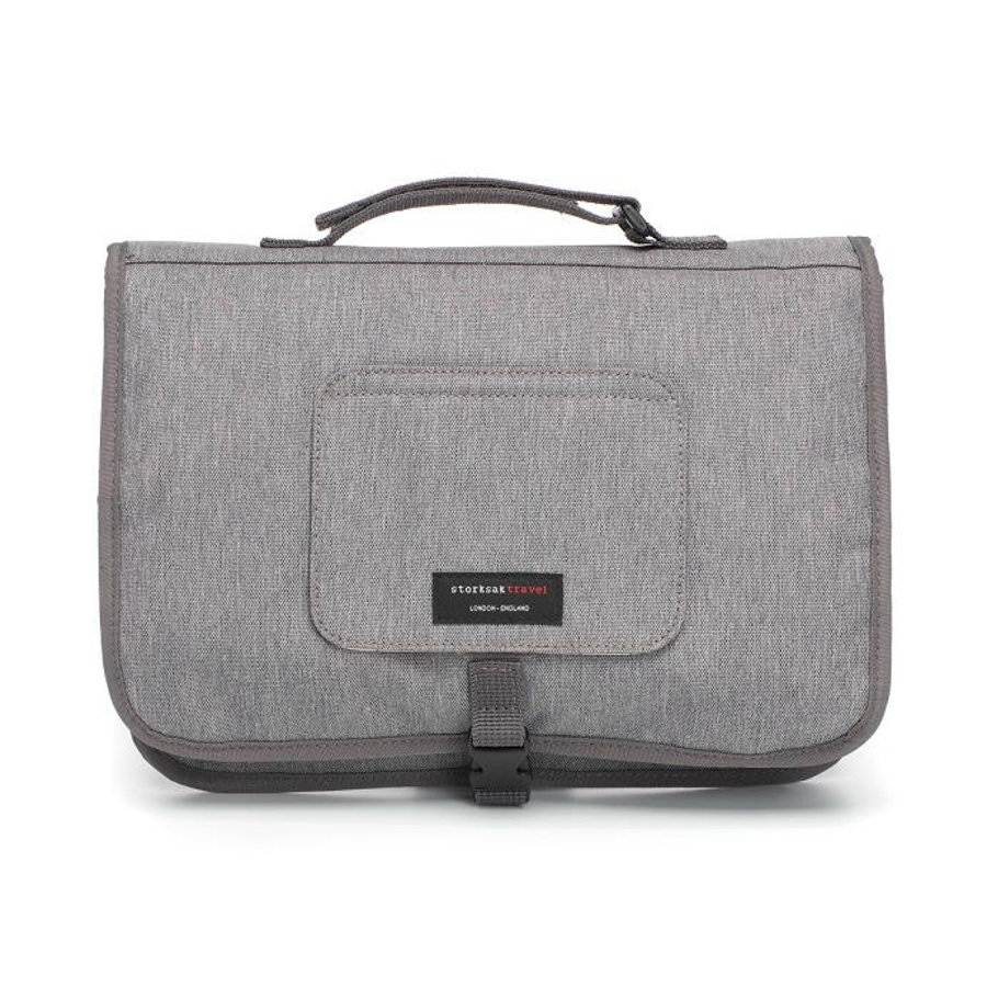 storksak Wickelunterlage Travel Grey