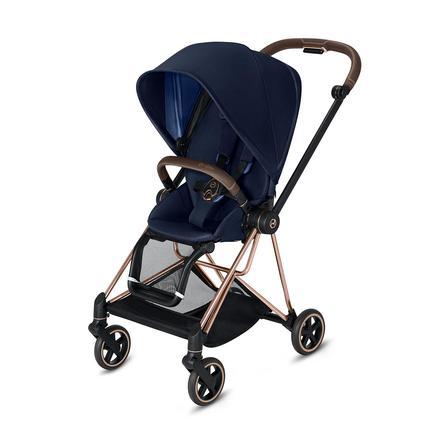 cybex PLATINUM Kinderwagen Mios - Rahmen Rosegold inklusive Sitz in Indigo Blue