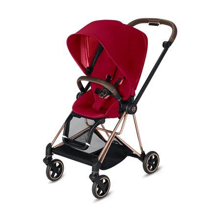cybex PLATINUM Kinderwagen Mios - Rahmen Rosegold inklusive Sitz in True Red