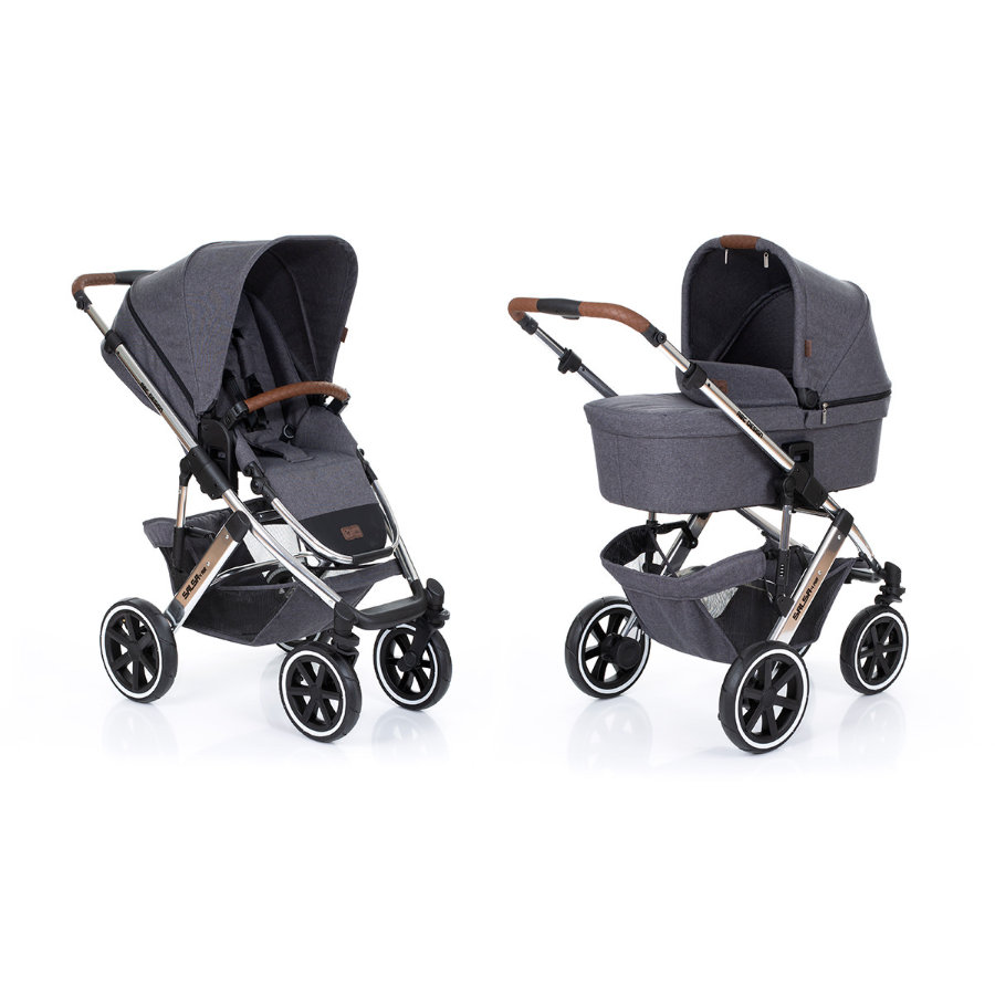 ABC DESIGN Passeggino duo Salsa 4 Air incl. seduta sportiva e navicella Diamond Special Edition asphalt