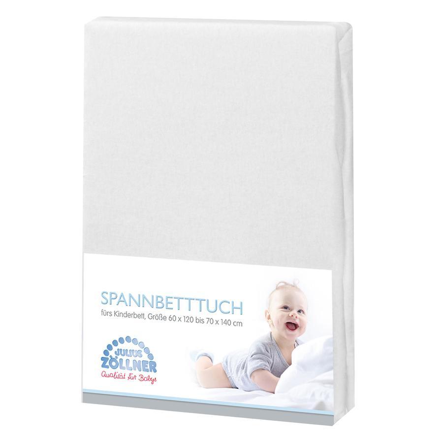 JULIUS ZÖLLNER Drap housse enfant éponge blanc 60x120/70x140 cm