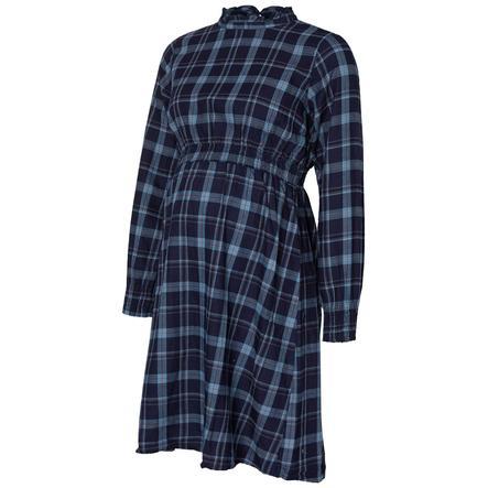 mama licious Robe de maternité MLCHECK bleu sarcelle d'hiver