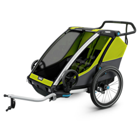 THULE Kinderfahrradanhänger Chariot Cab 2 Chartreuse - Dark Shadow