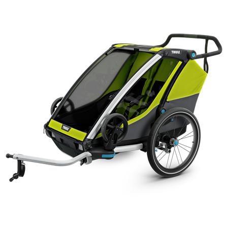THULE Remolque de niño para bicicleta Chariot Cab 2 Chartreuse - Dark Shadow