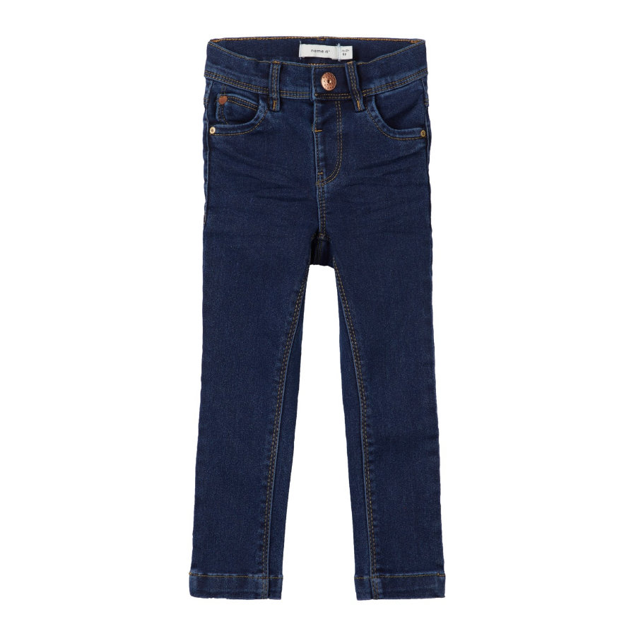 name it Girl s Jeans Polly Polly, ciemnoniebieski denim.