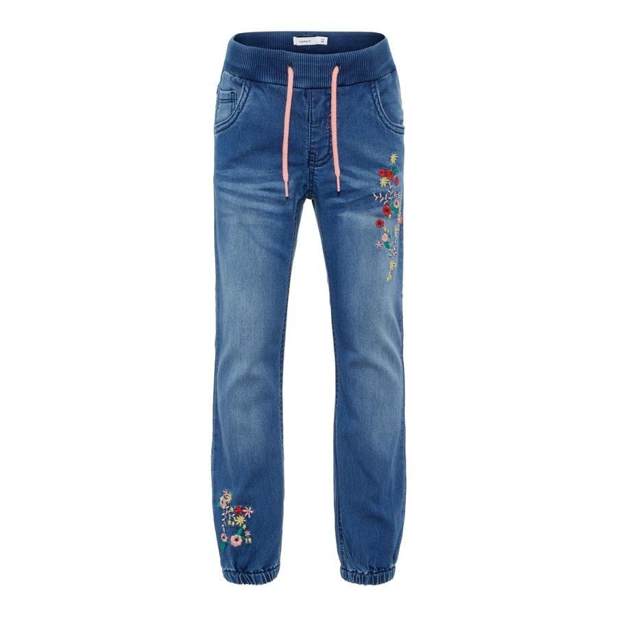name it Girl s Jeans Rie średnio-niebieski denim.