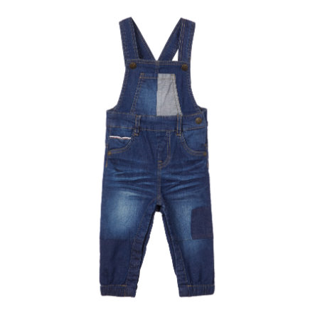 name it Boys Jeans Latzhose Romeo dark blue denim