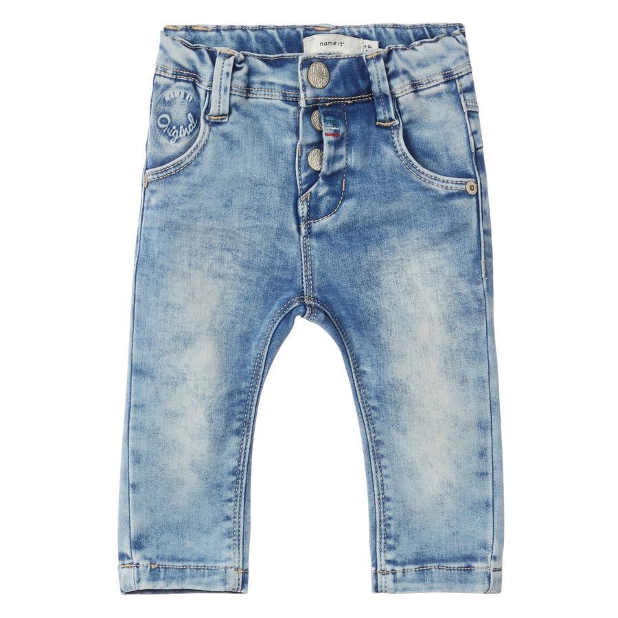 name it Jeans Rie light modrý denim