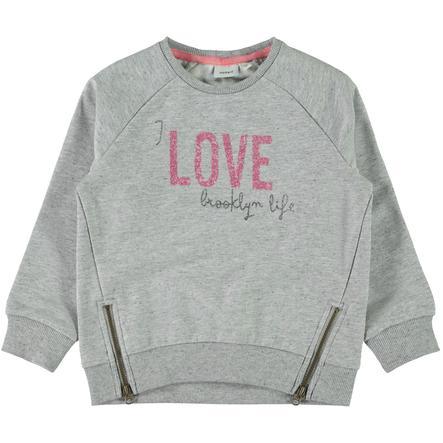 name it Girl Sweatshirt Baduelle grey melange