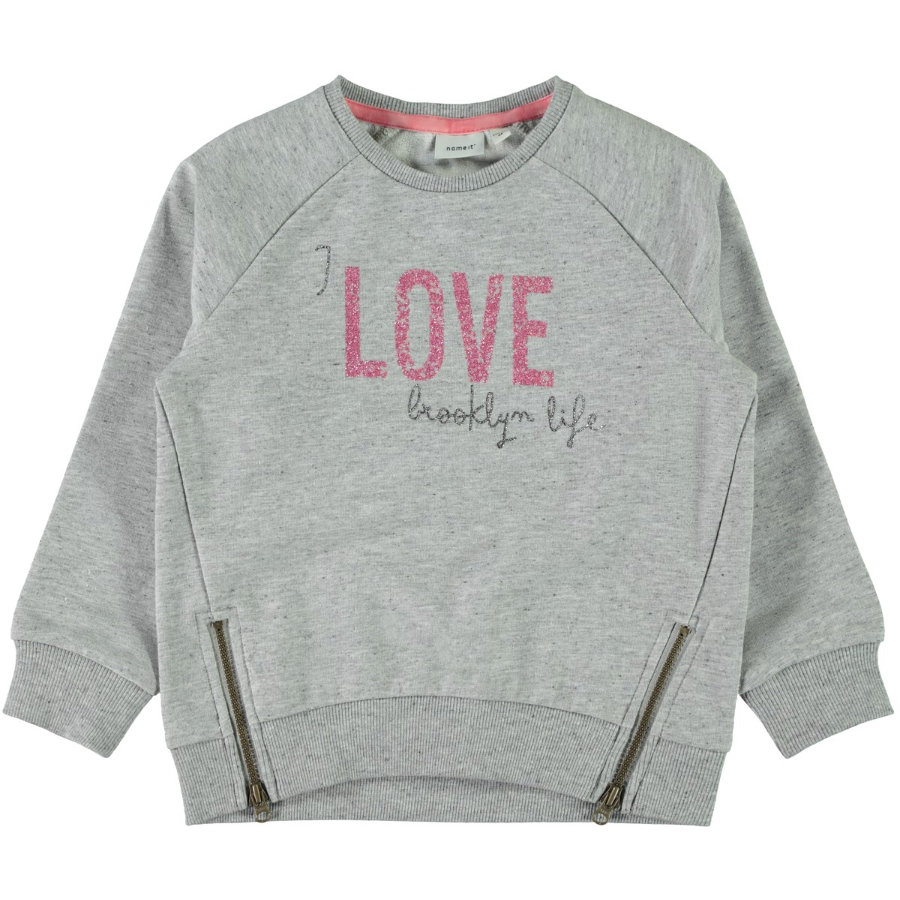 name it Girl s Sweatshirt Baduelle gris mélangé