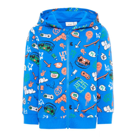name it Boys Sweat Jacket Basse bleu vif