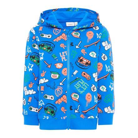 name it Boys Sweat Jacket Basse sterk blauw