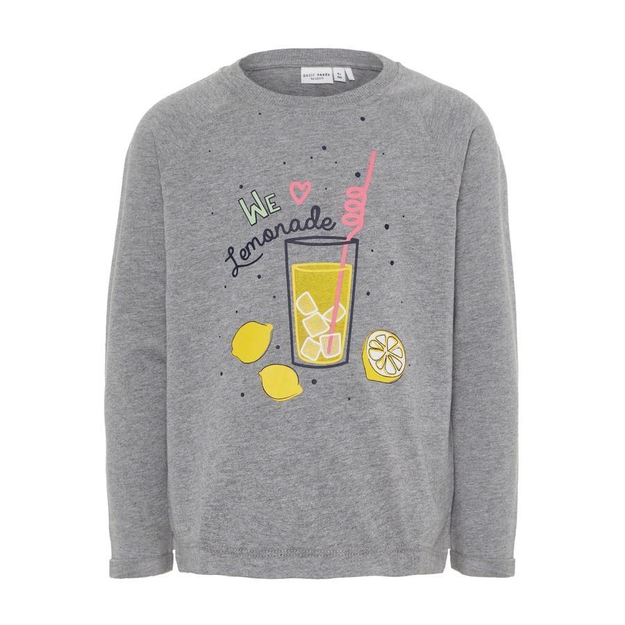 name it Girl s Sweatshirt Venus gris mélangé
