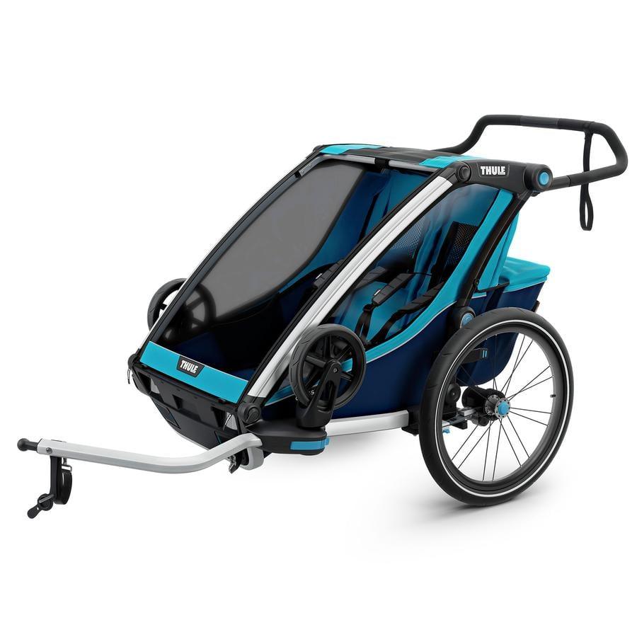 THULE Remorque de vélo enfant Chariot Cross 2 bleu Poséidon 2019