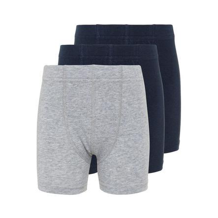 name it Boys Boxershort 3er Pack grey melange