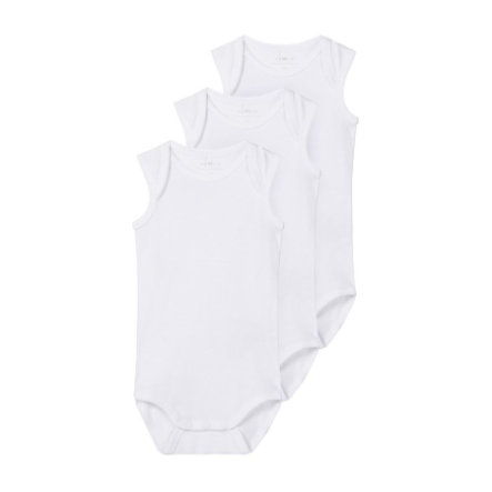 name it Body bez rukávů 3-pack b right  white
