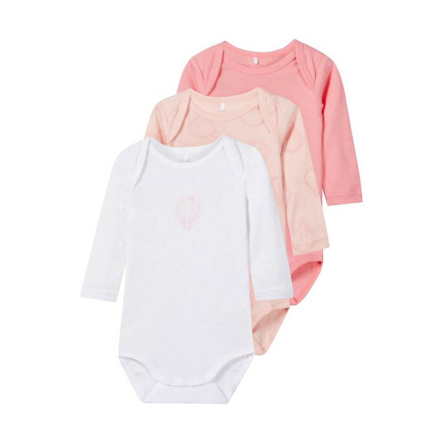 name it Girls Body 3er Pack strawberry cream
