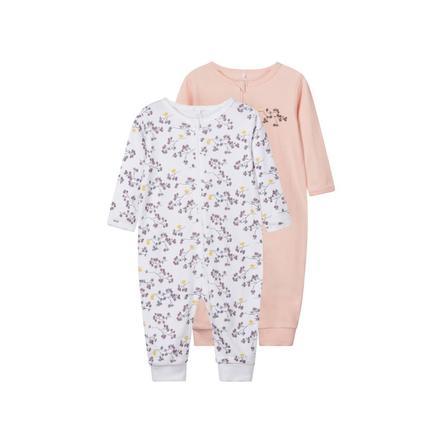 name it Girl s Pajamas 2er Pack helder wit