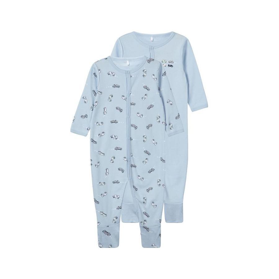 name it Boys Pijama 2 paquete de cachemir azul