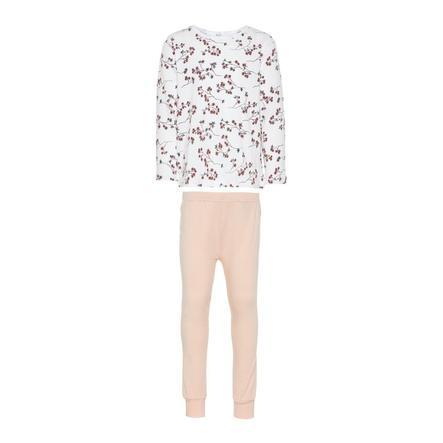 name it Girls Schlafanzug bright white