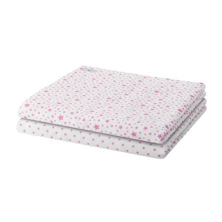 BELLYBUTTON Moltondoeken STARS roze 2 stuks