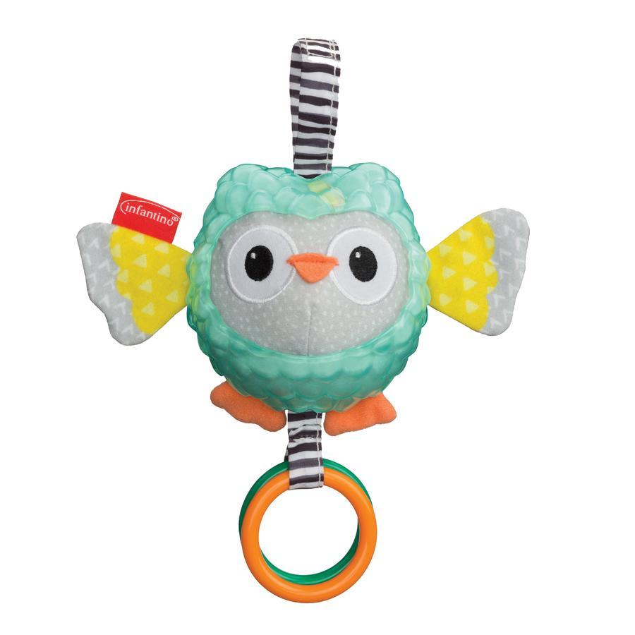 Infantino Hochet anneau hibou multicolore