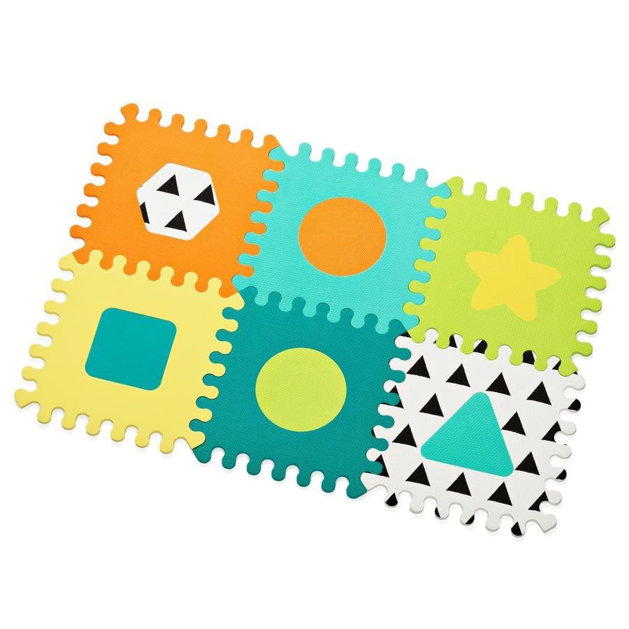 Infantino Tapis d'éveil 6 carrés casse-tête en mousse
