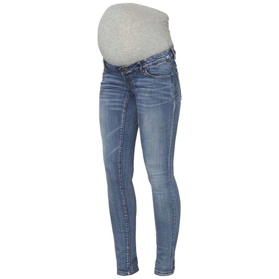 mama licious Jeans de maternité MLGOLDEN Bleu Pâle Denim
