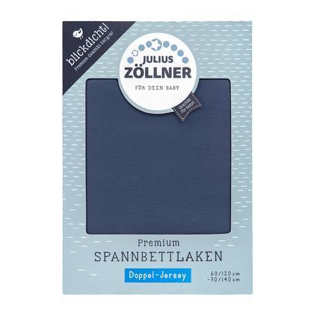 JULIUS ZÖLLNER Spannbetttuch Premium Midnight blue 70x140cm