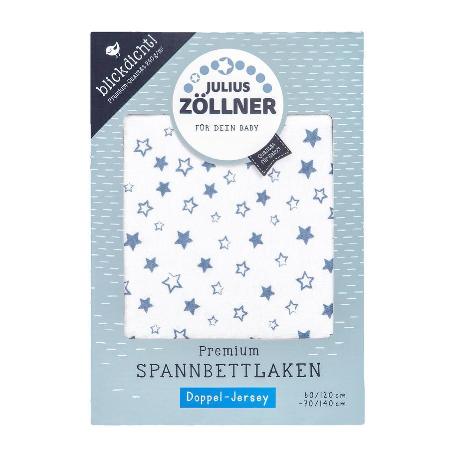 JULIUS ZÖLLNER Drap housse de lit enfant étoiles bleu 70x140 cm