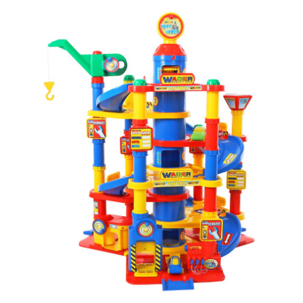 WADER QUALITY TOYS Park Tower mit 7 Ebenen und Autos