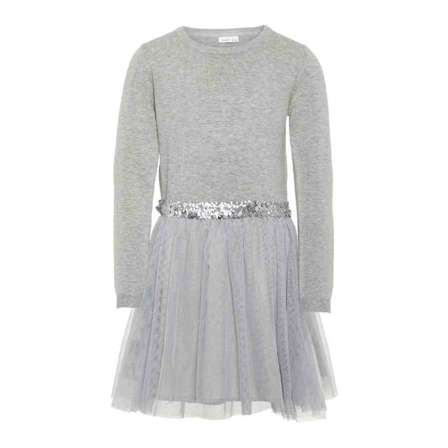 name it Girl s vestido Nkfralukka gris mélange