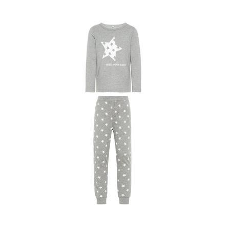name it pyjamas 2-delad Ramisto gråmelerad