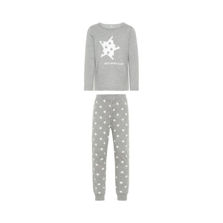 name it Boys Pajamas 2-delig Ramisto grijs gemêleerd 2-delig