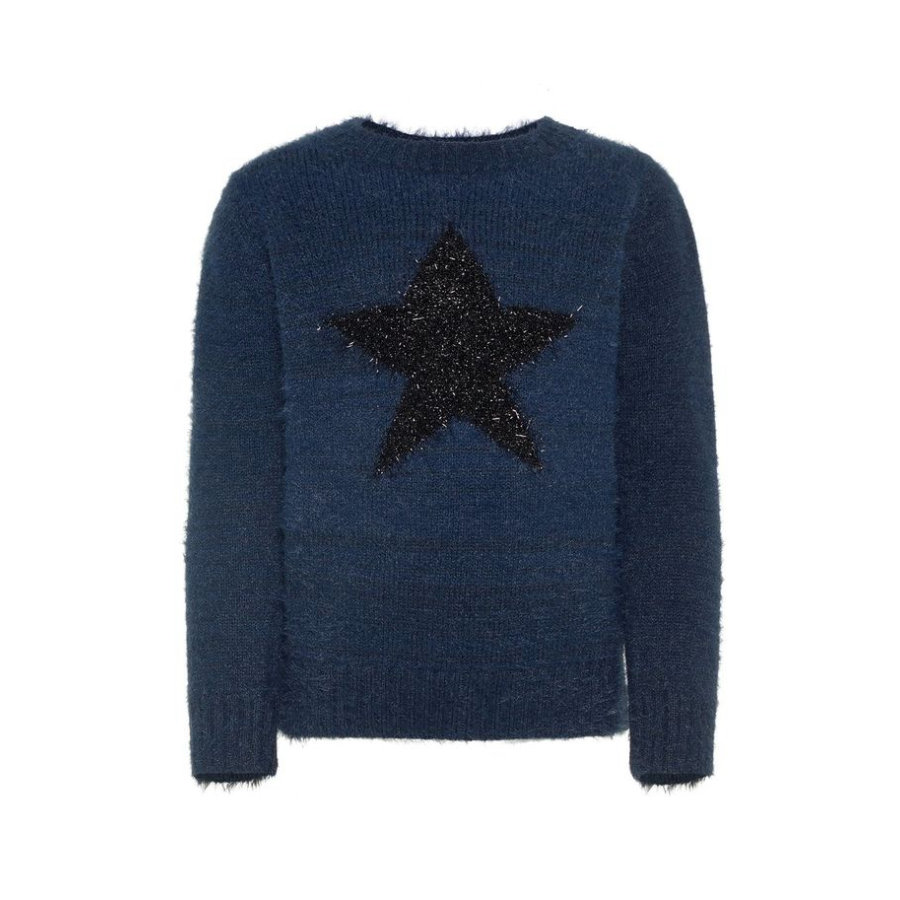 name it Girl s Pullover Nmfrazia, donkere saffier